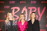 """Isabella Ferrari (C) and guests attend the Netflix's """"Baby"""" World Premiere Afterparty at Villa Sublime on November 27, 2018 in Rome, Italy."""