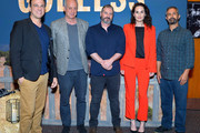 "Composer Carlos Rafael Rivera, Executive Producer Casey Silver, Writer/Director Scott Frank, Actress Michelle Dockery and Cinematographer Steven Meizler attend Netflix Celebrates 12 Emmy Nominations For ""Godless"" at DGA Theater on August 9, 2018 in Los Angeles, California."