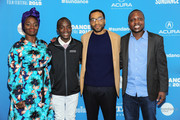 "(L-R) Aissa Maiga, Maxwell Simba, Chiwetel Ejiofor, and William Kamkwamba attend the Netflix film ""The Boy Who Harnessed The Wind"" Sundance Film Festival Park City screening at The Ray Theatre on January 26, 2019 in Park City, Utah."