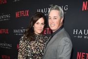 """Annabeth Gish and Wade Allen attend the premiere of Neflix's """"The Haunting Of Hill House"""" at ArcLight Hollywood on October 8, 2018 in Hollywood, California."""