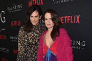 """Annabeth Gish and Elizabeth Reaser attend the premiere of Neflix's """"The Haunting Of Hill House"""" at ArcLight Hollywood on October 8, 2018 in Hollywood, California."""
