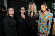 Netflix VP of Content Cindy Holland, Annie Imhoff, Laverne Cox and Laura Harrier attend Netflix Hollywood Tastemaker at San Vicente Bungalows on February 23, 2020 in West Hollywood, California.