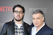 "Cameron Britton and Holt McCallany attends Netflix's ""Mindhunter"" FYC Event at Netflix FYSEE At Raleigh Studios on June 1, 2018 in Los Angeles, California."