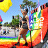 """Freema Agyeman Photos - Freema Agyeman is seen on the Netflix original series """"Sense8"""" float at the Los Angeles Pride Parade on June 10, 2018 in West Hollywood, California. - Netflix Original Series 'Sense8' Cast Attends Los Angeles Pride Parade"""