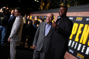 (L-R) Mark Wahlberg, Alan Arkin, and Winston Duke attend the Netflix Premiere Spenser Confidential at Westwood Village Theatre on February 27, 2020 in Westwood, California.