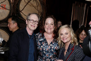 "(L-R) Steve Buscemi, Emily Spivey and Amy Poehler attend the Netflix Premiere of ""Wine Country"" on May 08, 2019 in New York City."