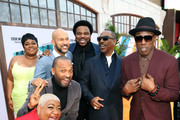 "(L-R) Da'Vine Joy Randolph, Luenell, Mike Epps, Keegan-Michael Key, Craig Robinson, Eddie Murphy, and Wesley Snipes attend the ""Dolemite Is My Name"" premiere presented by Netflix on September 28, 2019 in Los Angeles, California."