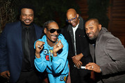 "(L-R) Craig Robinson, Snoop Dogg, Warren G, and Mike Epps attend the ""Dolemite Is My Name"" premiere presented by Netflix on September 28, 2019 in Los Angeles, California."
