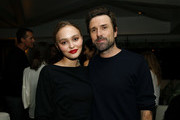Lily-Rose Depp and David Michod attend Netflix Presents 'The King' Tastemaker at The London Hotel on October 22, 2019 in West Hollywood, California.