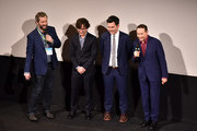 "(L-R) Judd Apatow, Paul Rust, John Lee and Paul Reubens attend Netflix presents the world premiere of ""Pee-wee's Big Holiday"" at SXSW March 17, 2016 in Austin, Texas."