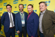 "(L-R) John Lee, Judd Apatow, Paul Reubens and Ted Sarandos attend Netflix presents the world premiere of ""Pee-wee's Big Holiday"" at SXSW March 17, 2016 in Austin, Texas."
