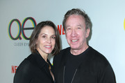Jane Hajduk (L) and Tim Allen attend Netflix's Queer Eye premiere screening and after party on February 7, 2018 in West Hollywood, California.
