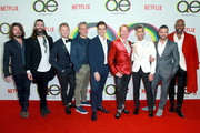 (L-R) Kayan Douglas, Jonathan Van Ness, Bobby Berk, Thom Filicia, Antoni Porowski, Carson Kressley, Tan France, Jai Rodriguez, and Karamo Brown attend Netflix's Queer Eye premiere screening and after party on February 7, 2018 in West Hollywood, California.