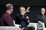 Glenn Kiser, Alfonso Cuarón, Skip Lievsay speak onstage at the Netflix 'Roma' Experience at Raleigh Studiods on December 09, 2018 in Los Angeles, California.