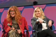 """Natasha Lyonne and Amy Poehler speak onstage at the Netflix """"Russian Doll"""" FYSEE Event at Raleigh Studios on June 09, 2019 in Los Angeles, California."""