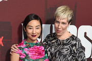 """Greta Lee and Rebecca Henderson attend Netflix's """"Russian Doll"""" Season 1 Premiere at Metrograph on January 23, 2019 in New York City."""