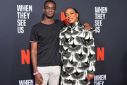Ethan Herisse and Aunjanue Ellis attend Netflix's 'When They See Us' Screening & Reception at Paramount Theater on the Paramount Studios lot on August 11, 2019 in Hollywood, California.