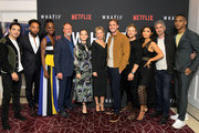 Juan Castano, John Clarence Stewart, Samantha Ware, Louis Herthum, Jane Levy, Renée Zellweger, Blake Jenner, Derek Smith, Daniella Pineda, Dave Annable and Keith Powers attend Netflix's 'WHAT / IF' Special Screening at The London West Hollywood on May 16, 2019 in West Hollywood, California.
