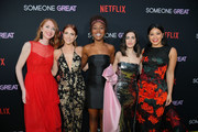 """(L-R) Producer Jessie Henderson, Brittany Snow, DeWanda Wise, Writer and Director Jennifer Kaytin Robinson and Gina Rodriguez attend Netflix Special Screening Of """"Someone Great"""" at ArcLight Cinemas on April 17, 2019 in Culver City, California."""