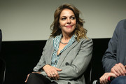 """Claudia Gerini attends a screening for Netflix """"Suburra"""" The Series, season 2 at Casa del Cinema on February 20, 2019 in Rome, Italy."""
