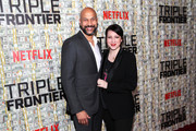 Keegan-Michael Key and Elisa Pugliese attend Netflix World Premiere of TRIPLE FRONTIER at Lincoln Center on March 03, 2019 in New York City.