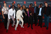 "(L-R) Freddy Miyares, Michael K. Williams, Jovan Adepo, Jharrel Jerome, Caleel Harris, Niecy Nash, Asante Blackk, Chris Chalk, Justin Cunningham, Ethan Herisse and Joshua Jackson attend Netflix's FYSEE Event For ""When They See Us"" at Netflix FYSEE at Raleigh Studios on June 09, 2019 in Los Angeles, California."