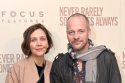 """(L-R) Maggie Gyllenhaal and Peter Sarsgaard attend a New York screening of """"Never Rarely Sometimes Always"""" at Metrograph on March 09, 2020 in New York City."""