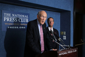 Alan Simpson New America Foundation Holds News Conference On Deficit Reduction