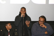 (L - R) Dante Hoagland, Keith Powers, and Chris Robinson attend the New Edition Story BET AMC Screenings Tour, New York on January 14, 2017 in New York City.