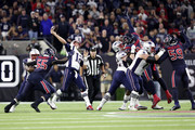 Tom Brady #12 of the New England Patriots throws a pass against the Houston Texans during the second quarter in the game at NRG Stadium on December 01, 2019 in Houston, Texas.