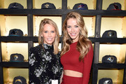 Lindsey Koch of New Era (L) and Miss USA 2015 Olivia Jordan attend the New Era Style Lounge at The Battery on February 5, 2016 in San Francisco, California.