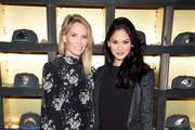 Lindsey Koch of New Era (L) and Miss Universe 2015 Pia Wurtzbach attend the New Era Style Lounge at The Battery on February 5, 2016 in San Francisco, California.