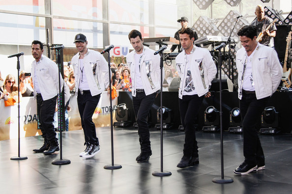 Bands Perform on 'The Today Show' in NYC [new kids on the block,onthe today show,clarinetist,music,event,musical instrument,performance,saxophonist,98 degrees,boyz ii men,jordan knight,danny wood,donnie wahlberg,l-r,new york new york,nbc]