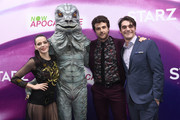 (L-R) Roxane Mesquida, Beau Mirchoff, and RJ Mitte attend the 'Now Apocalypse' Los Angeles Premiere at Hollywood Palladium on February 27, 2019 in Los Angeles, California.