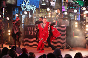 Macklemore & Ryan Lewis perform on stage ahead of midnight at The New Year's Eve 2014 Celebration in Times Square on December 31, 2013 in New York City.