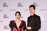 Violetta Komyshan and Ansel Elgort attend New York City Ballet 2018 Spring Gala at Lincoln Center on May 3, 2018 in New York City.