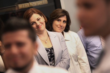 Christine C. Quinn Kim Catullo New York City Clerks Offices Open Sunday For First Day Of Gay Marriages