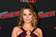 Actor Rebecca Romijn attends the Star Trek: Discovery panel during New York Comic Con at The Hulu Theater at Madison Square Garden on October 6, 2018 in New York City.