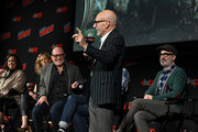 Sir Patrick Stewart speaks onstage during the Star Trek Universe panel New York Comic Con at the Hulu Theater at Madison Square Garden on October 05, 2019 in New York City.