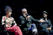 Sheila Vand, Steven Ogg, and Graeme Manson speak onstage at the Snowpiercer panel during New York Comic Con at Hammerstein Ballroom on October 05, 2019 in New York City.