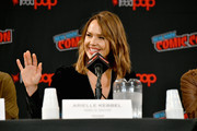 Arielle Kebbel speaks onstage during the Lincoln Rhyme: Hunt for the Bone Collector panel at New York Comic Con 2019 Day 3 at Jacob K. Javon October 05, 2019 in New York City.