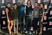 (L-R) Actors Genesis Rodriguez, Ryan Potter, Scott Adsit, and T.J. Miller, panel host Chris Hardwick, and actress Jamie Chung attend Walt Disney Studios' 2014 New York Comic Con presentations of 'Big Hero 6' and 'Tomorrowland' at the Javits Convention Center on Thursday October 9, 2014 in New York City.