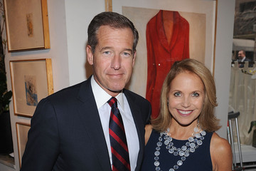 Brian Williams Katie Couric New York Giants Super Bowl Pep Rally Luncheon