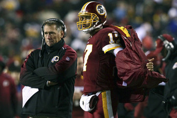 Jason Campbell Jim Zorn New York Giants v Washington Redskins