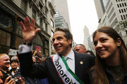 New York Gov. Andrew Cuomo (L) marches in the annual Columbus Day parade with his daughter Michaela on October 13, 2014 in New York City. Organized by the Columbus Citizens Foundation, the parade is billed as the world's largest celebration of Italian-American heritage and culture and has been run since 1929. The parade runs from 44th Street to 72nd Street and is also used as a showcase for local politicians.