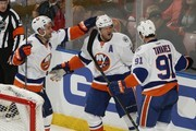 Frans Nielsen and Kyle Okposo Photos Photo
