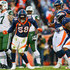 Outside linebacker Von Miller #58 of the Denver Broncos celebrates along with Shelby Harris #96 and Leonard Williams #92 after a sack against the New York Jets in the third quarter of a game at Sports Authority Field at Mile High on December 10, 2017 in Denver, Colorado.