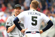 Freddie Freeman Jacob deGrom Photos Photo