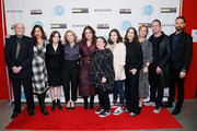 "(L-R) Stan Carp, Lola Kirke, Oona Laurence, Amy Ryan, Liz Garbus, Melissa Silverstein, Molly Brown, Miriam Shor, Dean Winters, Anne Carey and Michael Werwie attend the ""Lost Girls"" New York premiere during The Athena Film Festival at The Diana Center at Barnard College on February 29, 2020 in New York City."