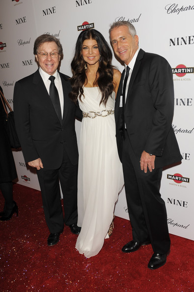 (L-R) Composer Maury Yeston, Fergie and producer Marc Platt attend the New York premiere of